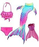 ShePretty Meerjungfrauenschwanz zum Schwimmen für Kinder,DH02,140