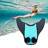 chinejaper Schwimmflossen Meerjungfrau Monoflosse, Tauchflossen Kinder Mädchen Meerjungfrau Flossen Monofin Schwimmflossen Zweibeinige Ferse für Kinderschwimmen