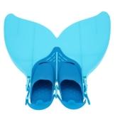 Gwood Meerjungfrau Flossen Monofin Taucherflossen für Kinderschwimmen Schwimm Flossen (Blau) - 1