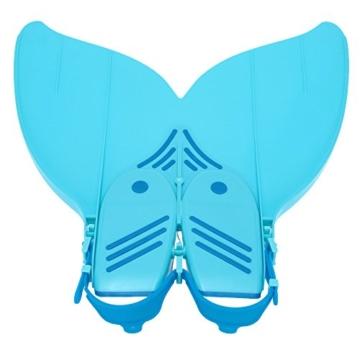 Gwood Meerjungfrau Flossen Monofin Taucherflossen für Kinderschwimmen Schwimm Flossen (Blau) - 3
