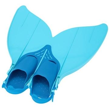 Gwood Meerjungfrau Flossen Monofin Taucherflossen für Kinderschwimmen Schwimm Flossen (Blau) - 4
