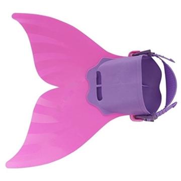 Yalulu Kinder Monoflosse Monofin Meerjungfrau Flossen Schwimmen Training Kinderschwimmen Schwimm ( Rosa) - 2