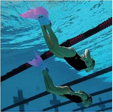Yalulu Kinder Monoflosse Monofin Meerjungfrau Flossen Schwimmen Training Kinderschwimmen Schwimm ( Rosa) - 6