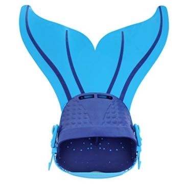 YiZYiF Monoflosse Mermaid Flosse für die Meerjungfrau Meerjungfrauflosse für Kinder Mädchen 8-15 Jahre (Blau) - 2