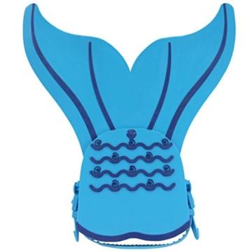 YiZYiF Monoflosse Mermaid Flosse für die Meerjungfrau Meerjungfrauflosse für Kinder Mädchen 8-15 Jahre (Blau) - 3