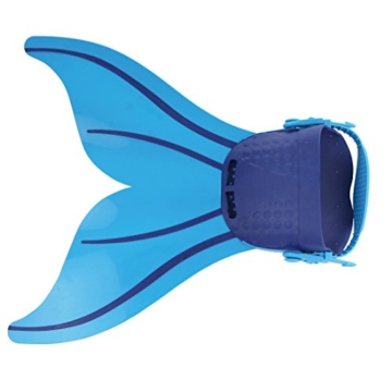 YiZYiF Monoflosse Mermaid Flosse für die Meerjungfrau Meerjungfrauflosse für Kinder Mädchen 8-15 Jahre (Blau) - 1