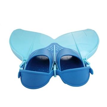 Yosoo Kinder Monoflosse Monofin Meerjungfrau Flossen Schwimmen Training (blau) - 2