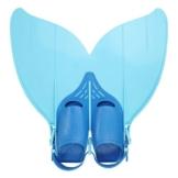 Yosoo Kinder Monoflosse Monofin Meerjungfrau Flossen Schwimmen Training (blau) - 1