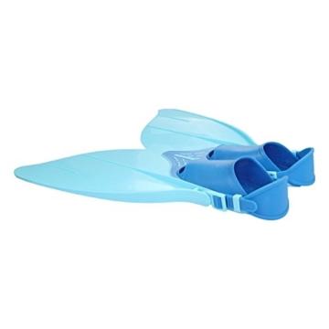 Yosoo Kinder Monoflosse Monofin Meerjungfrau Flossen Schwimmen Training (blau) - 3