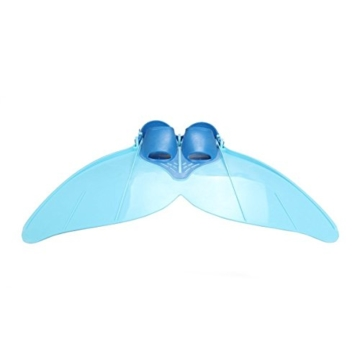 Yosoo Kinder Monoflosse Monofin Meerjungfrau Flossen Schwimmen Training (blau) - 4