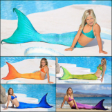 Magictail Arielle Meerjungfrau Fischschwanz Kostüm zum Schwimmen mit Mono-Flosse