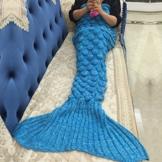Meerjungfrau Decke, Noza Tec Handgemachte häkeln meerjungfrau flosse decke für Kinder, Mermaid Blanket alle Jahreszeiten Schlafsack -
