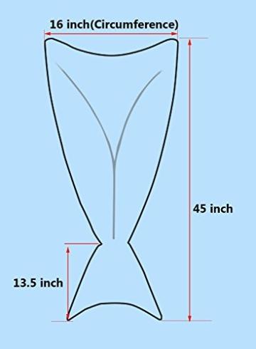 Tiaobug Handgemachte Häkeln Meerjungfrau Flosse Decke Schlafsack, Wohnzimmer Sofa Bett Decke für Erwachsene Frauen und Kinder (Für Kinder, Blau) -