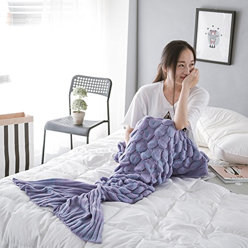 wlm meerjungfrau endst ck h kelarbeit decke weiche sofa nixe decke strickte meerjungfrau schwanz. Black Bedroom Furniture Sets. Home Design Ideas