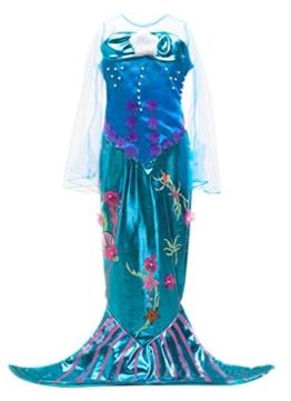 Eyekepper Kleine Maedchen Meerjungfrau Kostuem-Halloween-Kostuem-Kleid 140cm -