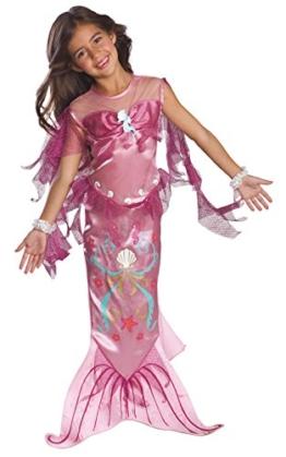 Rosa Meerjungfrau - Kinder- Kostüm - Medium - 132cm -