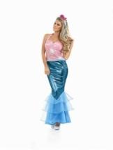 Glänzendes Meerjungfrau-Kostüm für Damen -