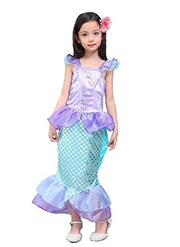 kinder baby kleidung mermaid tail fancy r schen h lsen kleider prinzessin ariel bling cosplay. Black Bedroom Furniture Sets. Home Design Ideas