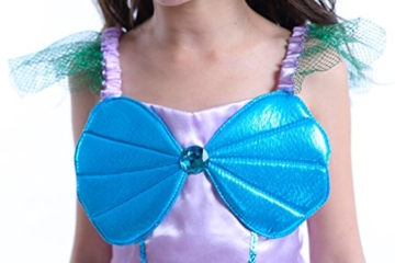 Kinder Kostüm für Mädchen Meerjungfrau Kostüm Prinzessin Kleid Meerjungfraukostüm Fasching Karneval Cosplay Blau 120 -