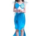 Kinder Kostüm für Mädchen Meerjungfrau Kostüm Prinzessin Kleid Meerjungfraukostüm Fasching Karneval Cosplay Blau 120 –