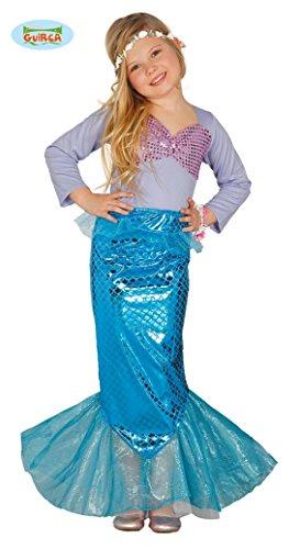 Kostüm Meerjungfrau für Mädchen Nixe Meerjungfraukostüm Kinderkostüm Gr. 110-146, Größe:122/128 -
