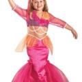 Premium Meerjungfrau-Kostüm für Mädchen mit Tiara | Hochwertiges Karnevals-Kostüm / Faschings-Kostüm / Kinderkostüm | Perfekte Nixe Mermaid Verkleidung für Karneval, Fasching, Fastnacht (Größe: 128) –