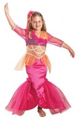 Premium Meerjungfrau-Kostüm für Mädchen mit Tiara | Hochwertiges Karnevals-Kostüm / Faschings-Kostüm / Kinderkostüm | Perfekte Nixe Mermaid Verkleidung für Karneval, Fasching, Fastnacht (Größe: 128) -