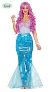 Sexy Meerjungfrau Kostüm für Damen Nixe Meerjungfraukostüm Kinderkostüm Gr. M-L, Größe:L -