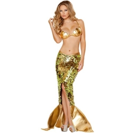 Sexy Meerjungfrau-Kostüm Halloween Mermaid Kostüm-Erwachsen-Bar Diskothek Bühnenstücke Nixekleid Maskerade (L) -
