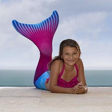 Fin Fun Mermaid Tail, verstärkte Enden, mit Monoflosse, Maui Splash, U.S. Größe Erwachsene XS - 6