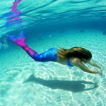 Fin Fun Mermaid Tail, verstärkte Enden, mit Monoflosse, Maui Splash, U.S. Größe Erwachsene XS - 7