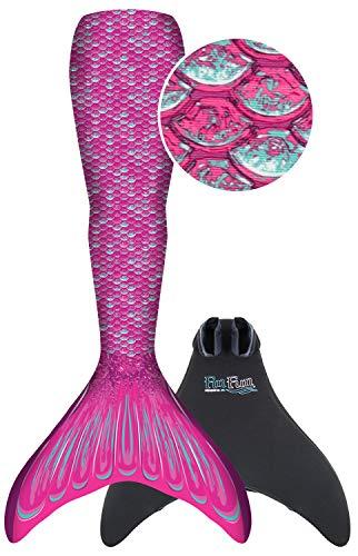 Fin Fun RTLM-MF-PNK-YSM Meerjungfrau Flosse Größe S/M, Monoflosse und Fischschwanz, für sichere Schwimmer ab 6 Jahren, pink - 2