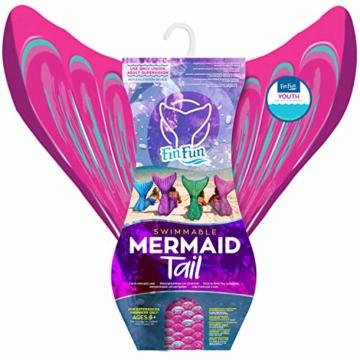 Fin Fun RTLM-MF-PNK-YSM Meerjungfrau Flosse Größe S/M, Monoflosse und Fischschwanz, für sichere Schwimmer ab 6 Jahren, pink - 3