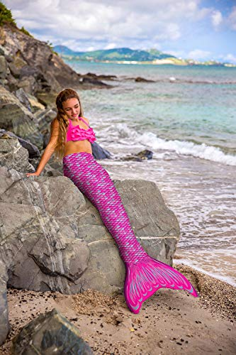 Fin Fun RTLM-MF-PNK-YSM Meerjungfrau Flosse Größe S/M, Monoflosse und Fischschwanz, für sichere Schwimmer ab 6 Jahren, pink - 4