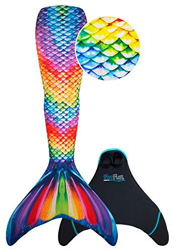 Fin Fun RTLX-RRF-08-MF Meerjungfrau Flosse Größe M / 122-134, für Kinder ab 8 Jahren, Rainbow Reef, regenbogenfarbe - 2