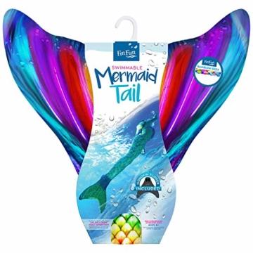 Fin Fun RTLX-RRF-08-MF Meerjungfrau Flosse Größe M / 122-134, für Kinder ab 8 Jahren, Rainbow Reef, regenbogenfarbe - 3