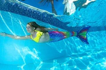 Fin Fun RTLX-RRF-08-MF Meerjungfrau Flosse Größe M / 122-134, für Kinder ab 8 Jahren, Rainbow Reef, regenbogenfarbe - 5