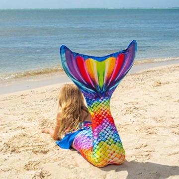Fin Fun RTLX-RRF-08-MF Meerjungfrau Flosse Größe M / 122-134, für Kinder ab 8 Jahren, Rainbow Reef, regenbogenfarbe - 6