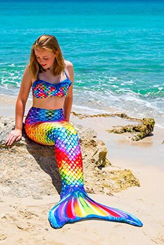 Fin Fun RTLX-RRF-08-MF Meerjungfrau Flosse Größe M / 122-134, für Kinder ab 8 Jahren, Rainbow Reef, regenbogenfarbe - 7