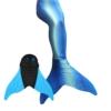 Meerjungfrauenschwanz zum Schwimmen mit Meerjungfrau Flosse Schwimmen Kostüm (Blau, Kinder 12) - 1